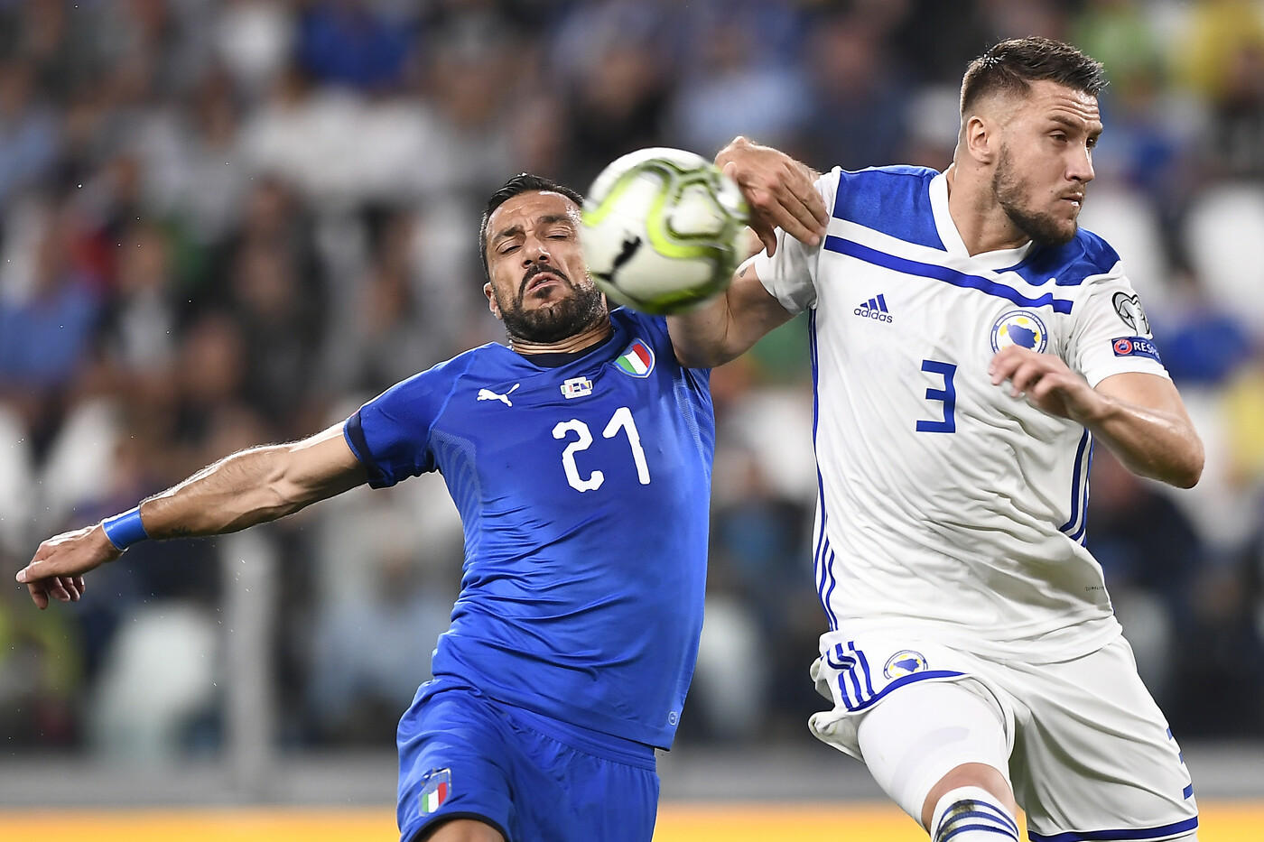 Verratti e Insigne stendono la Bosnia: allo Stadium finisce 2-1.