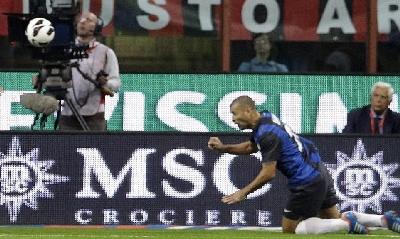 Il gol di Walter Samuel, LaPresse