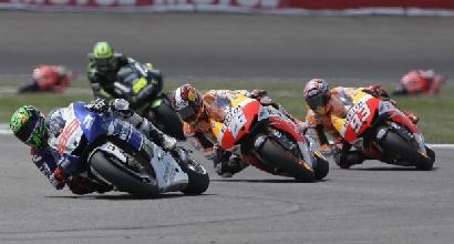 Lorenzo inseguito dalle Honda (LaPresse)