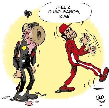 La Lotus fa gli auguri a Raikkonen con una vignetta provocatoria