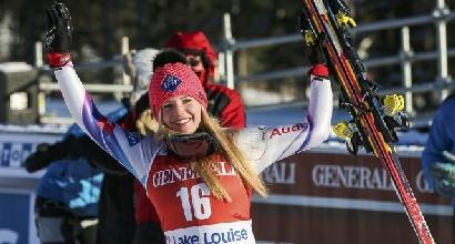 Sci, Tina Weirather vince il Super G a St. Moritz