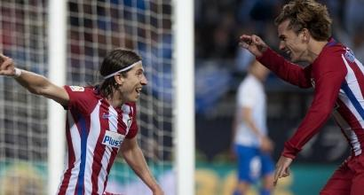 Liga: l'Atletico fa festa, il Malaga si inchina