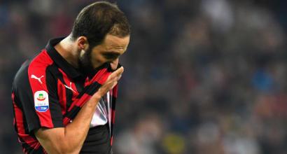 Milan, Higuain non si è allenato: verso il forfait in Europa League