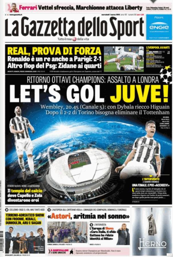 Lo sport sui quotidiani italiani e esteri