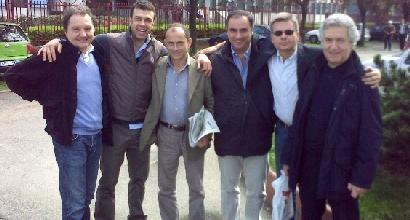 Andrea Sanna (al centro) con Longhi, Callegari, Piccinini, Brandi e Ziliani
