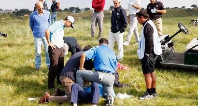 Golf: paura per Zanotti, colpito alla testa