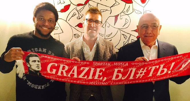 Galliani saluta Luiz Adriano: va allo SpartakMosca