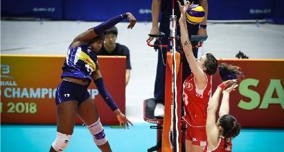 Volley, mondiali femminili: poker Italia, battuta 3-0 la Turchia