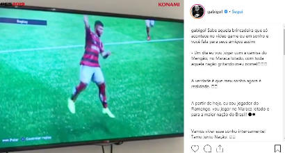 Gabigol già in gol col Flamengo, ma alla Playstation