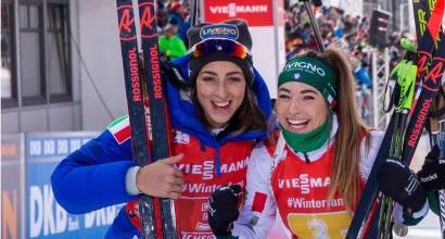 Biathlon, apoteosi Wierer: trionfo in casa, festa con Vittozzi