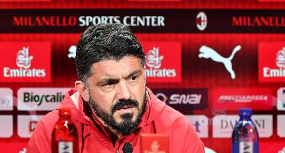"""Milan, Gattuso: """"Un sogno allenare qui, spero di continuare"""""""