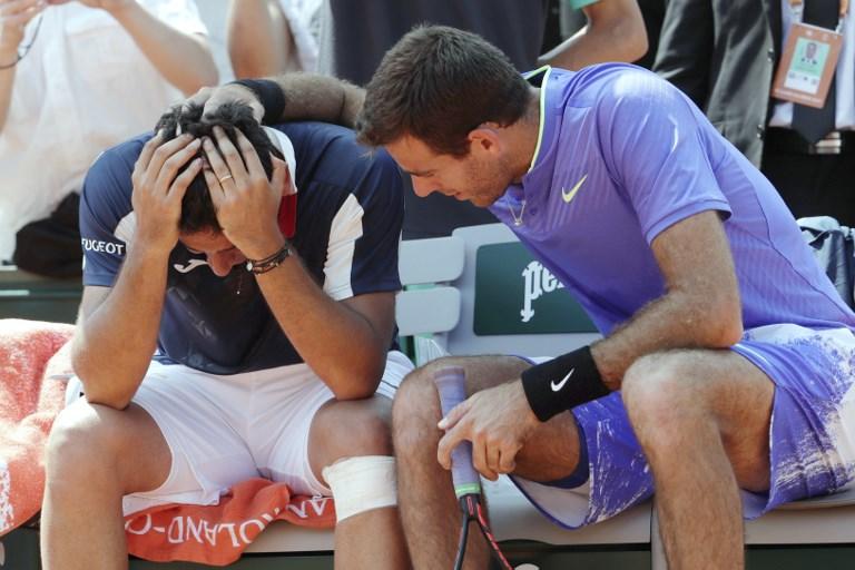 Roland Garros: Almagro in lacrime, Del Potro lo consola