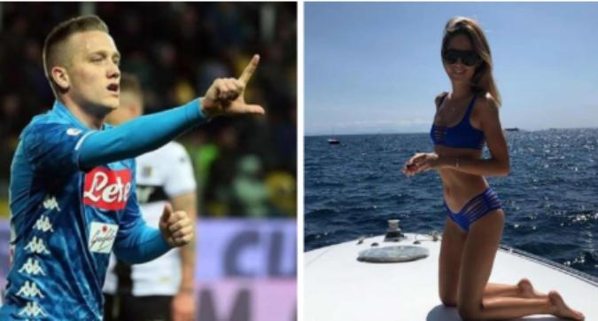Napoli, gol e dedica romantica per Zielinski