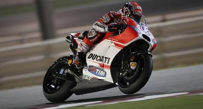 MotoGP, test Losail: Ducati in testa, cade Rossi