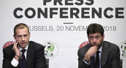 """Agnelli e Ceferin: """"La Superlega è esclusa"""""""