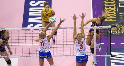 Volley, A1 femminile: Conegliano prima, Piacenza ko al tie-break