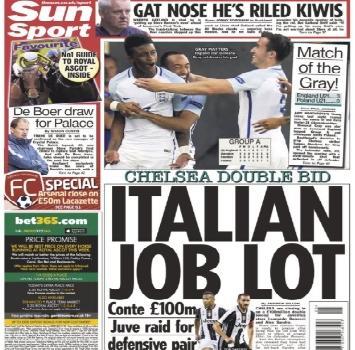 Chelsea: 100 mln per Bonucci-Sandro