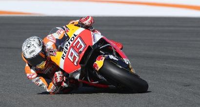 MotoGP, test a Valencia: Marquez è il più veloce, Rossi settimo