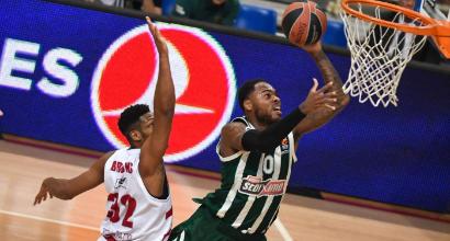 Basket, Eurolega: Milano col brivido, Panathinaikos battuto 86-83