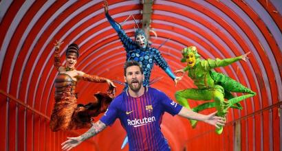 Barcellona, Leo Messi è la prima icona vivente del Cirque du Soleil