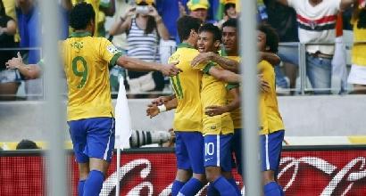 La festa del Brasile, foto Reuters