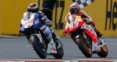 Lorenzo davanti a Marquez (LaPresse)