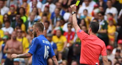Euro 2016, l'Italia ha dieci diffidati: difesa a rischio