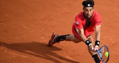 Tennis, Roland Garros: Fognini combatte ma non basta, avanza Cilic