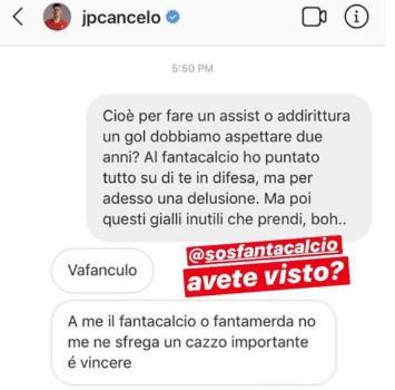 """Juve, Cancelo contro il fanta-allenatore: """"Non me ne frega un c..."""""""