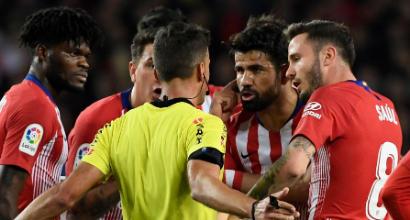 Atletico Madrid, Diego Costa rifiuta di allenarsi