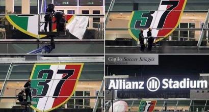 Scudetto Juventus, allo Stadium compare il 37