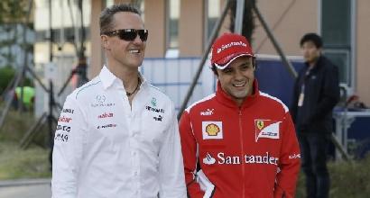 Schumacher e Massa (LaPresse)