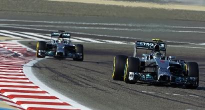 Rosberg davanti a Hamilton (AFP)