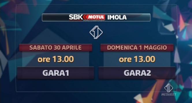 Superbike, round Imola: gli orari in tv