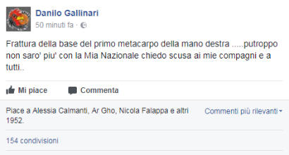Basket: l'Italia vince, Gallinari perde la testa e salta gli Europei