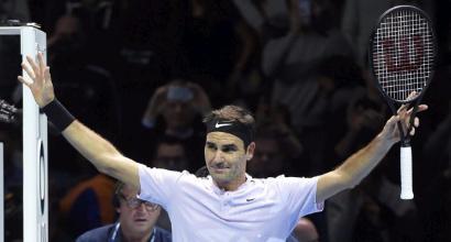 ATP Finals: Federer supera Sock, Zverev piega Cilic al terzo set
