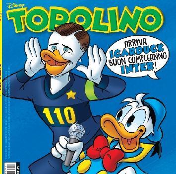 Topolino celebra i 110 anni dell'Inter