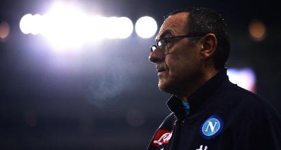 """Napoli, Sarri: """"Bravi a tenere vivo il campionato. Contratto? Penso ad altro"""""""