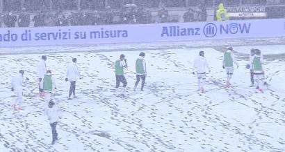 Fitta nevicata a Torino, rinviata Juventus-Atalanta