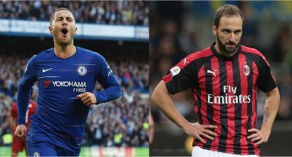 Sarri trova Higuain ma può perdere Hazard: il Real lo vuole subito