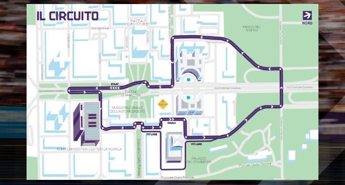 Formula E, E-Roma: si corre all'Eur: 2,86 km e 21 curve
