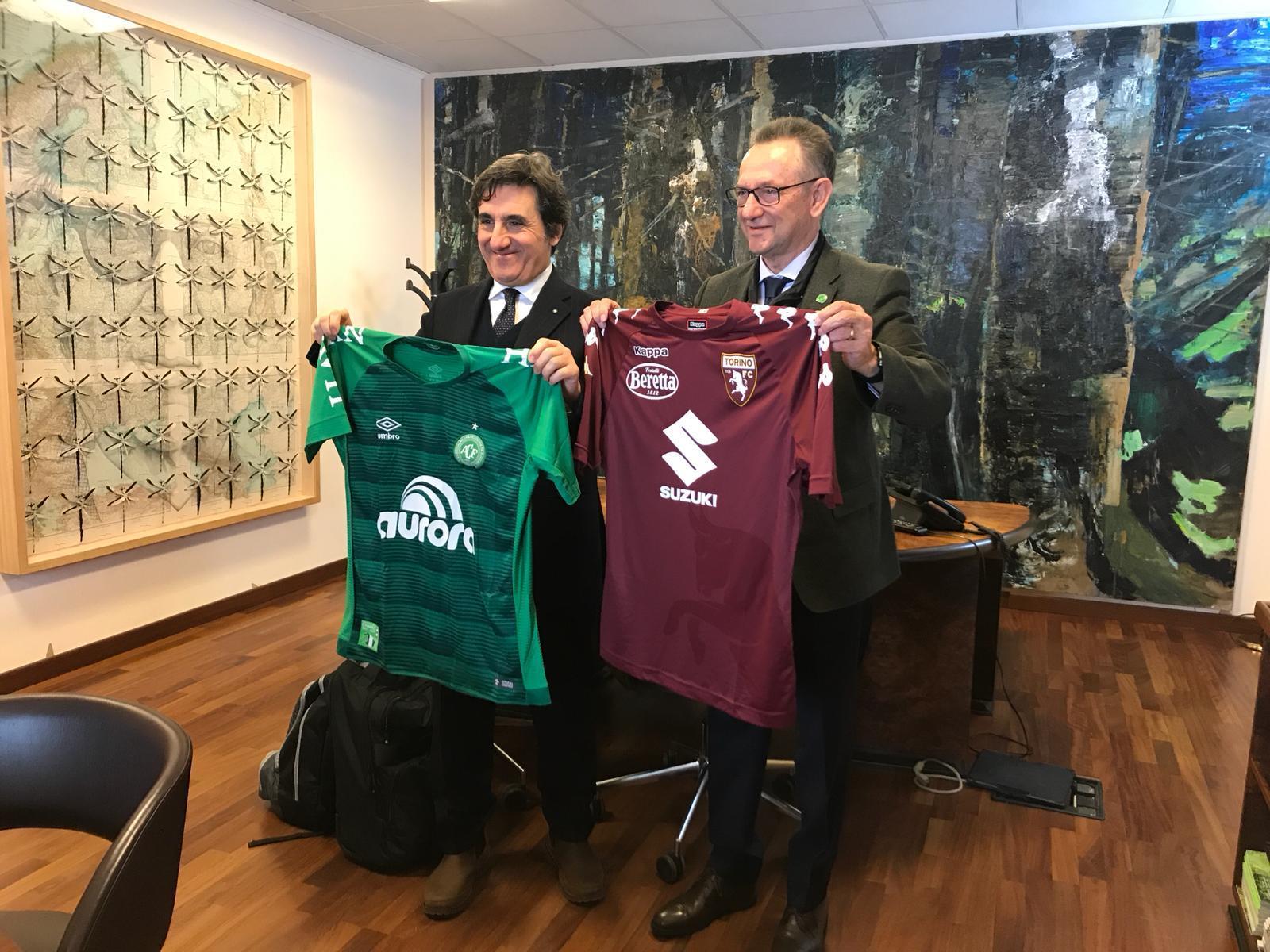 Torino, la visita di una delegazione della Chapecoense