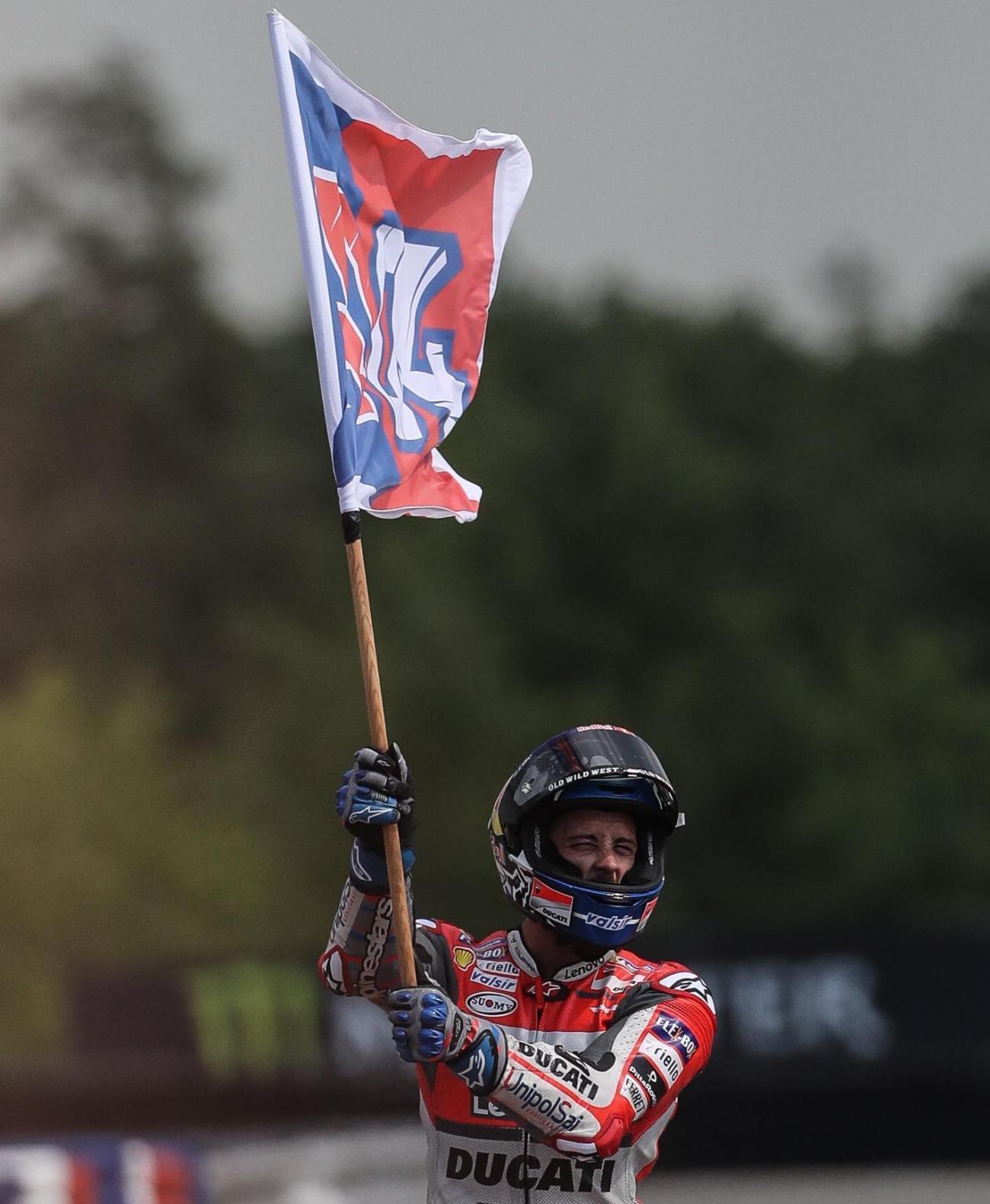 MotoGP: Dovizioso trionfa a Brno, doppietta Ducati