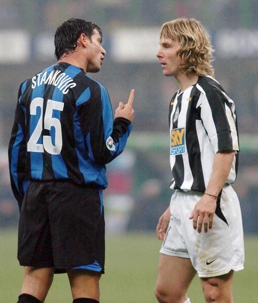 Juventus vs Inter 2004: Stankovic e Nedved a confronto