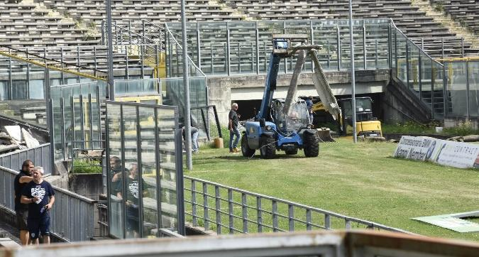Brescia, lifting per lo stadio