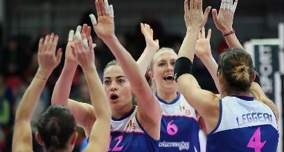 Volley, Champions donne: colpo Busto, rimonta Piacenza