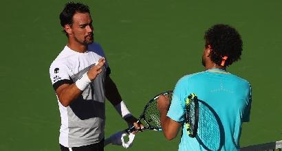 Tennis, impresa di Fognini con Tsonga a Indian Wells