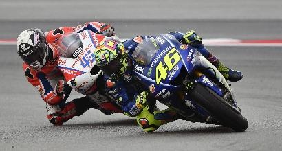 """MotoGP, Rossi: """"Sull'asciutto avrei lottato per il podio"""""""
