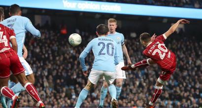 EFL Cup, Manchester City-Bristol City 2-1: decide Aguero al 92′