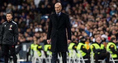 """Real, Zidane: """"Così non è accettabile e il responsabile sono io"""""""